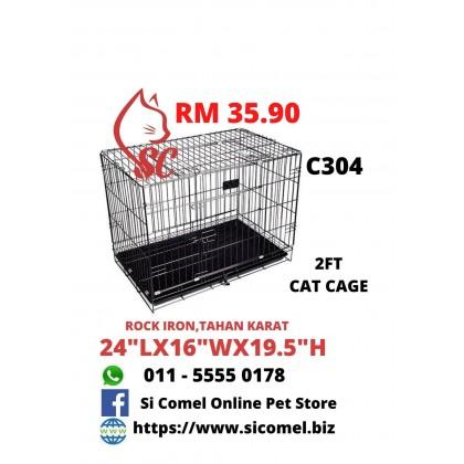 """Cat Cage- 2FT Rock Iron 24""""Lx16""""Wx19.5""""H Sangkar Murah Offer"""
