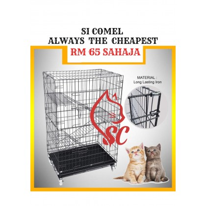 """Cat Cage- 2FT With 3 Level Rock Iron 24""""Lx16.5""""Wx37""""H SangkarKucingMurah Cheapest Offer [READY STOCK]"""