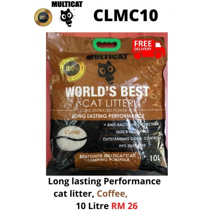 Cat Litter- MultiCat- Coffee 7kg FreeDelivery