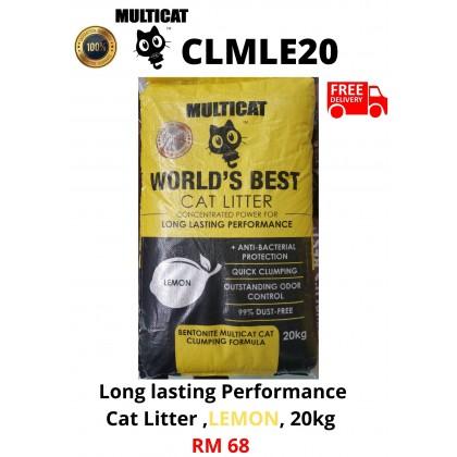 Cat Litter- MultiCat- Lemon 20kg FreeDelivery