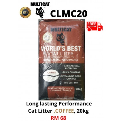 Cat Litter- MultiCat- Coffee 20kg FreeDelivery