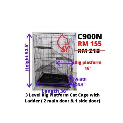 Cat Cage- 3FT 3 Level Rock Iron + BIG PLATFORM+ LADDER Sangkar Kucing Cheapest Offer