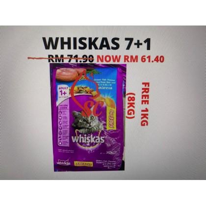 Cat Food- Whiskas- Dry Food 7kg +FREE 1kg Cheapest Offer Paling Murah