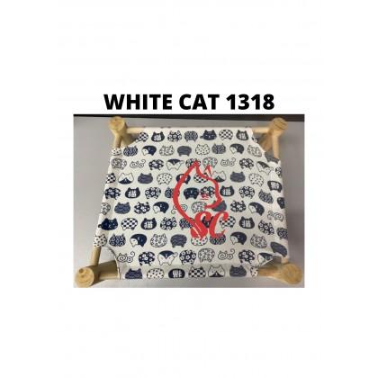 CAT BED- WOODEN HAMMOCK BED (53.5cm X 13cm X 48.5cm )